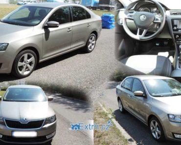22.8.2018 Dražba automobilu Škoda Rapid 1.6 TDI 85 kW. Vyvolávací cena 150.000 Kč.
