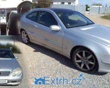 11.10.2018 Dražba automobilu Mercedes-Benz C 180 K, vyvolávací cena 20.000 Kč.