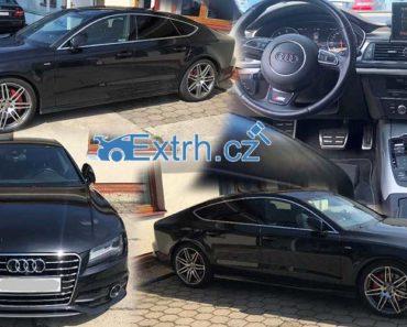 14.9.2018 Dražba automobilu Audi A7 S-Line, vyvolávací cena 448.000 Kč.