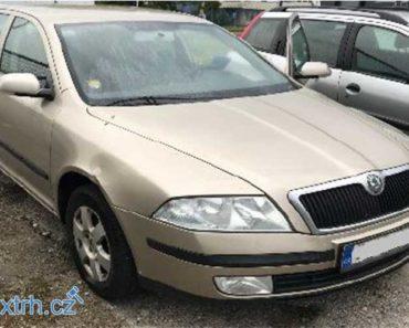 13.9.2018 Státní dražba automobilu Škoda Octavia 1,9 TDI, vyv. cena 40.000 Kč.