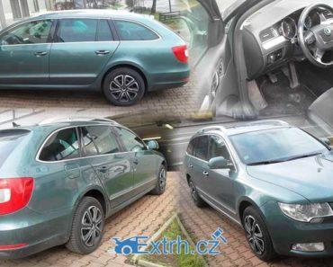 19.9.2018 Dražba automobilu Škoda Superb Combi, vyvolávací cena 90.000 Kč.