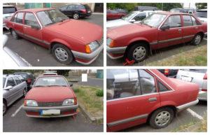 25.10.2018 Dražba veterána Opel Rekord. Vyvolávací cena 11.000 Kč.