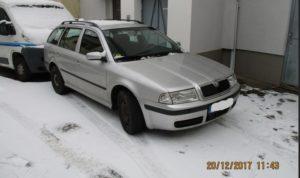 1.11.2018 Dražba automobilu Škoda Octavia kombi. Vyvolávací cena 17.000 Kč.