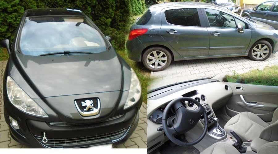 Dražba automobilu Peugeot 308, nový majitel ušetřil cca 30.000 Kč.