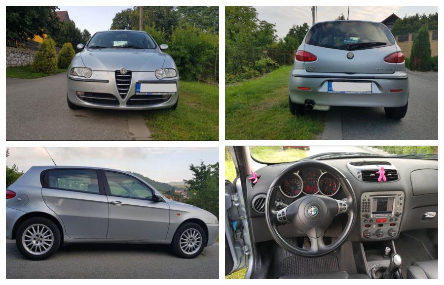 NEVYDRAŽENO – Alfa Romeo 147 2.0 TS. Vyvolávací cena 29.900 Kč