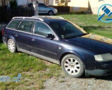 Do 22.11.2018 Výběrové řízení na prodej automobilu Audi A6 Avant, kombi. Minimální kupní cena 5.000 Kč.