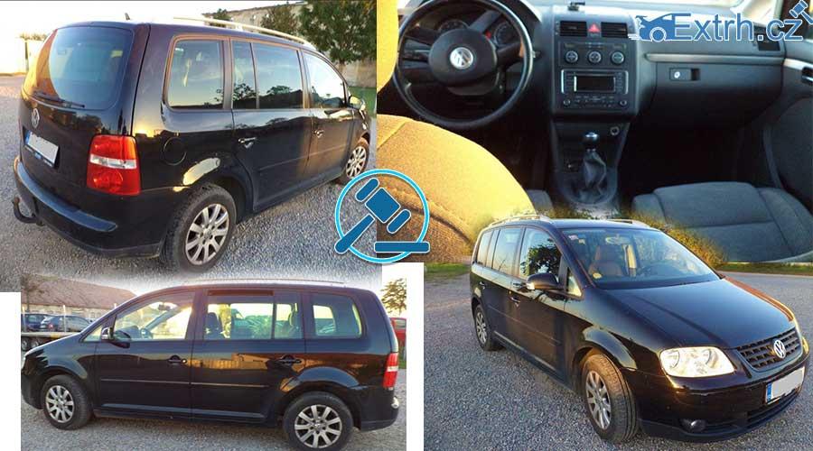 O 23.000 korun levněji byl vydražen automobil Volkswagen Touran