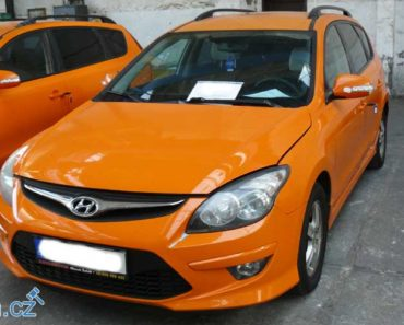 7.11.2018 Dražba automobilu Hyundai i 30 CW.. Vyvolávací cena 20.000 Kč.