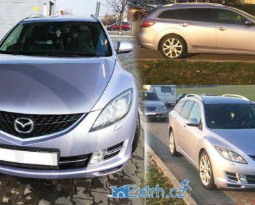 27.11.2018 Dražba automobilu Mazda 6, kombi. Vyvolávací cena 120.000 Kč.
