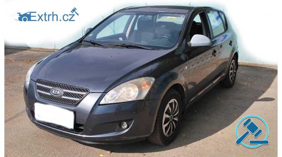 Dražba automobilu KIA CEED, vydražen za vyvolávací cenu 30.000 Kč