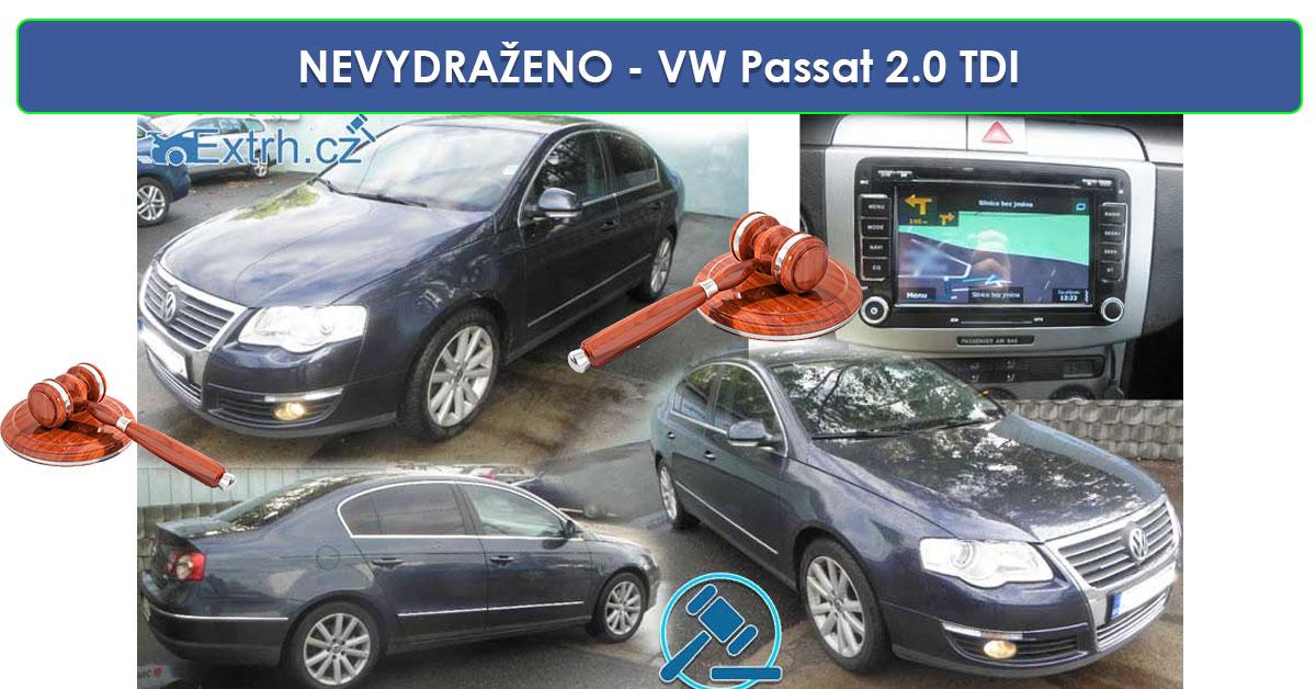 NEVYDRAŽENO - Volkswagen Passat 2.0 TDI, vyvolávací cena 40.000 Kč