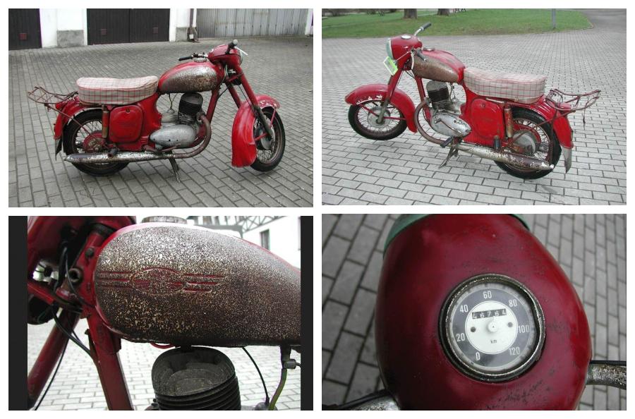 Do 26.11.2018 Aukce motocyklu Jawa ČZ 250. Vyvolávací cena 21.000 Kč.