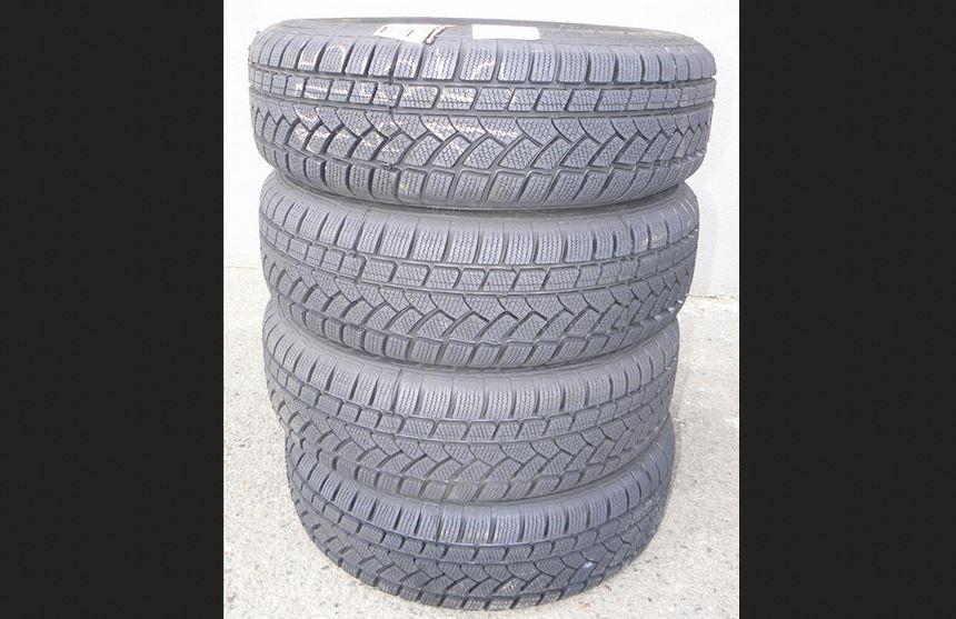 4.12.2018 Dražba sady 4 kusů pneu VRANÍK 195/65R15 91T. Vyvolávací cena 800 Kč.