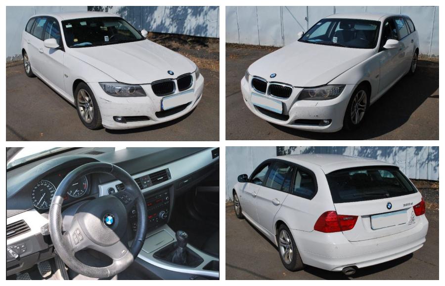 1.12.2018 Dražba automobilu BMW 320 D. Vyvolávací cena 120.000 Kč.