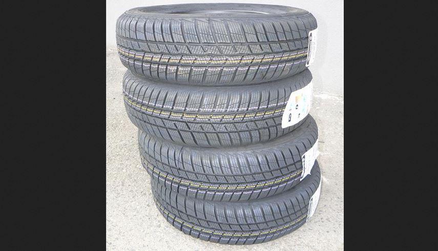 4.12.2018 Dražba sady 4 kusů pneu BARUM POLARIS 5 165/70R14 81T. Vyvolávací cena 800 Kč.