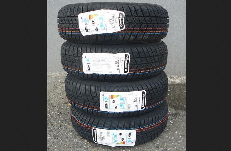 4.12.2018 Dražba sady 4 kusů pneu BARUM POLARIS 5 175/65R14 82T. Vyvolávací cena 800 Kč.