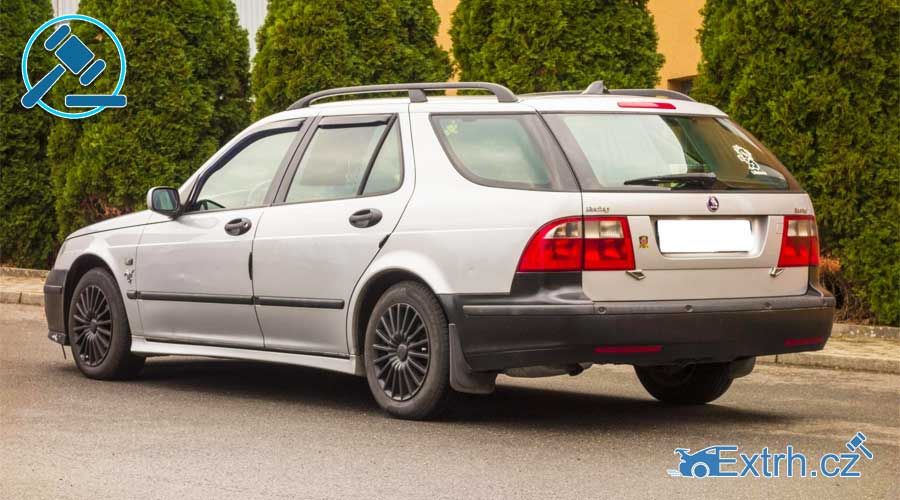 16.11.2018 Dražba automobilu Saab 9-5. Vyvolávací cena 17.000 Kč, ID381301