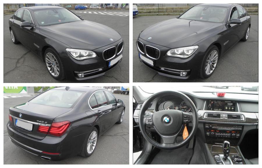 1.12.2018 Dražba automobilu BMW 740 D XDRIVE. Vyvolávací cena 520.000 Kč.
