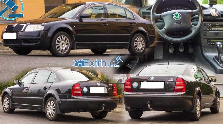 16.11.2018 Dražba automobilu Škoda Superb. Vyvolávací cena 20.000 Kč, ID381298