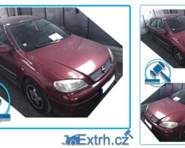 11.12.2018 Dražba automobilu Opel Astra 1.4. Vyvolávací cena 8.000 Kč.