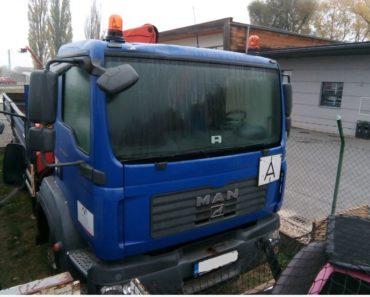20.12.2018 Dražba nákladního automobilu MAN TGM 4x4. Vyvolávací cena 455.000 Kč.