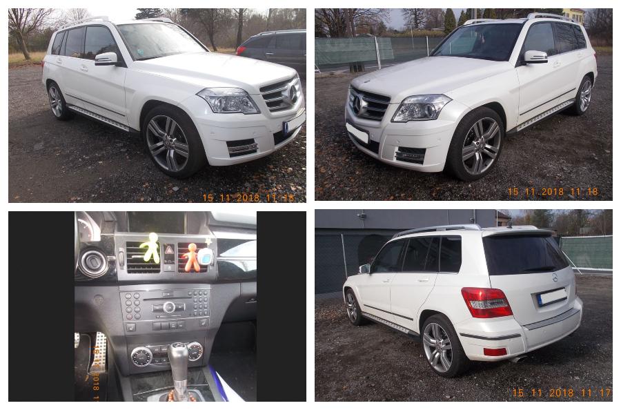 9.1.2019 Dražba automobilu Mercedes Benz GLK 220 4MATIC 204. Vyvolávací cena 170.000 Kč.