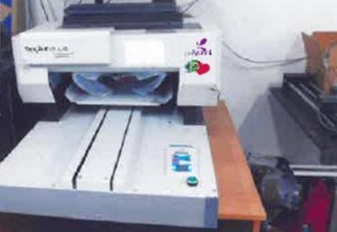 9.1.2019 Dražba stroje na digitální potisk textilu. Vyvolávací cena 48.000 Kč.