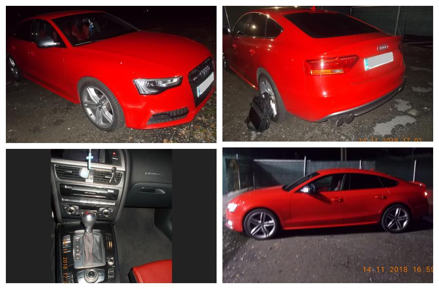 9.1.2019 Dražba automobilu Audi S5. Vyvolávací cena 240.000 Kč.