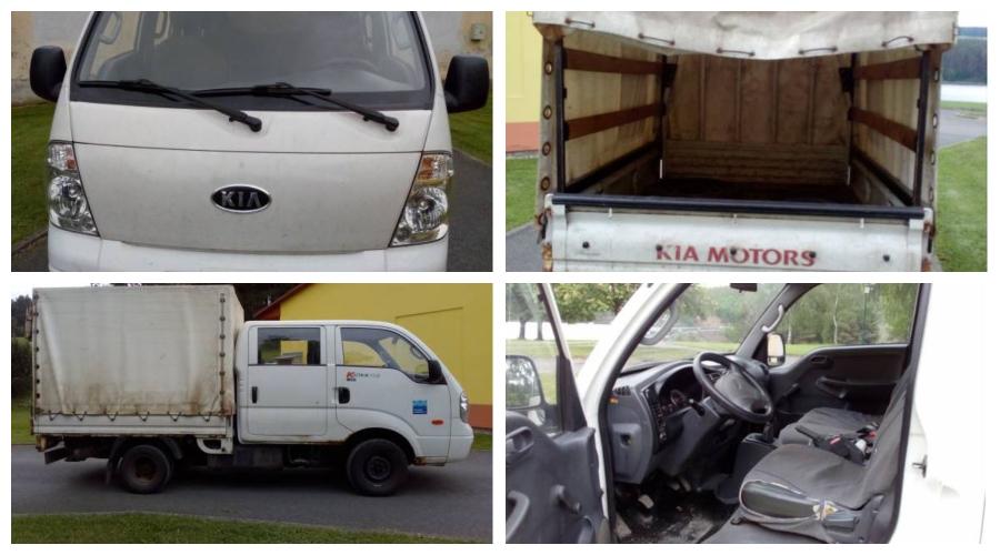 Do 7.1.2019 Výběrové řízení na prodej automobilu KIA K 2500 TCi. Minimální kupní cena 33.162 Kč.