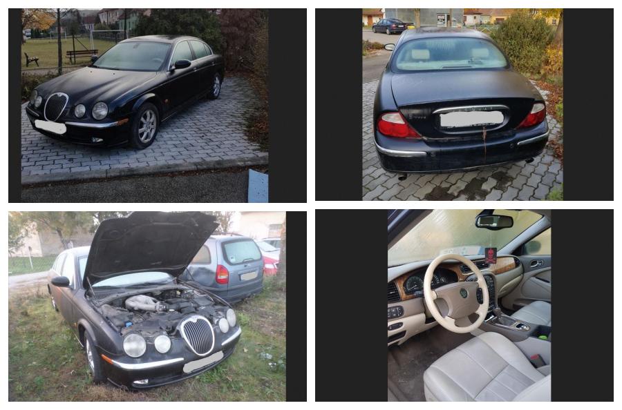 10.1.2019 Dražba automobilu Jaguar S-Type 2.5. Vyvolávací cena 30.000 Kč.