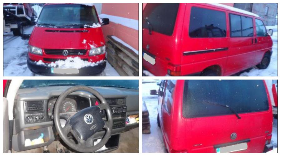 7.3.2019 Dražba automobilu VW Caravelle. Vyvolávací cena 20.000 Kč.