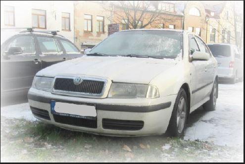 21.2.2019 Dražba automobilu Škoda Octavia 1.9 TDI, 4L0. Vyvolávací cena 15.000 Kč.