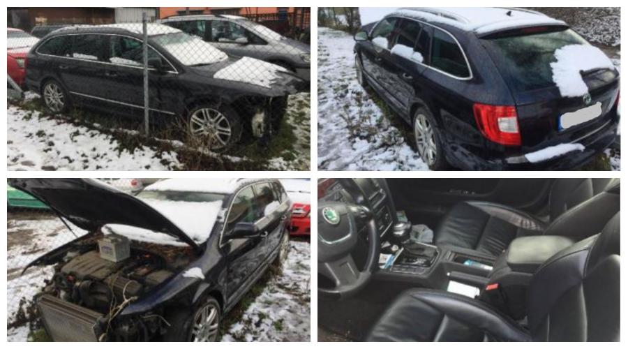 14.2.2019 Dražba automobilu Škoda Superb, kombi, 2.0 TDi. Vyvolávací cena 40.000 Kč.
