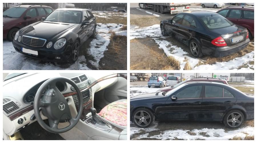27.2.2019 Dražba automobilu Mercedes model E. Vyvolávací cena 46.000 Kč.