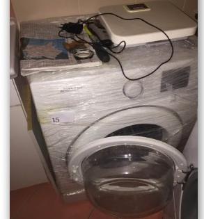 29.1.2019 Dražba pračky Samsung. Vyvolávací cena 100 Kč.