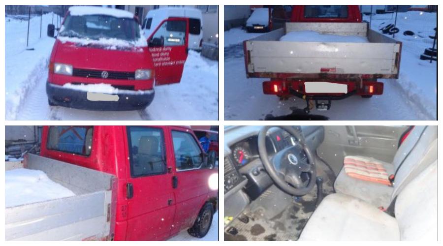 7.3.2019 Dražba automobilu VW Transporter. Vyvolávací cena 20.000 Kč.