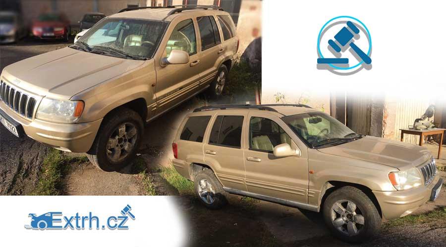 12.2.2019 Dražba automobilu Jeep Grand Cherokee 3.1 TDi. Vyvolávací cena 12.000 Kč.