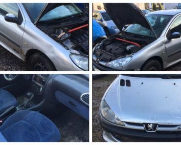 12.2.2019 Dražba automobilu Peugeot 206. Vyvolávací cena 3.000 Kč.
