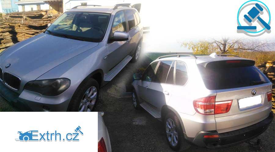 Do 31.1.2019 Aukce automobilu BMW X 3.0 D. Vyvolávací cena 155.992 Kč.