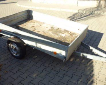 20.2.2019 Dražba přívěsného vozíku Agados Handy 27. Vyvolávací cena 1.000 Kč.