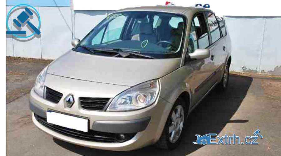 Do 21.1.2019 Insolvenční aukce automobilu Renault Megane SCENIC 1,9 DCI, vyvolávací cena 33.000 Kč. ID nabídky 442388