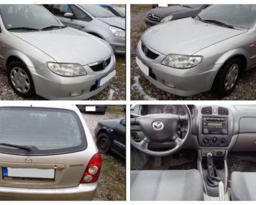 21.2.2019 Dražba automobilu Mazda 323. Vyvolávací cena 11.000 Kč.