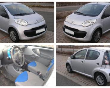 24.1.2019 Aukce automobilu Citroën C1. Vyvolávací cena 10.000 Kč.
