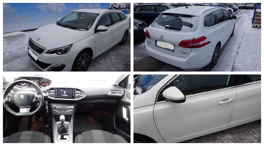 7.3.2019 Dražba automobilu Peugeot 308 SW 1.6 Blue HDI 120. Vyvolávací cena 220.000 Kč.