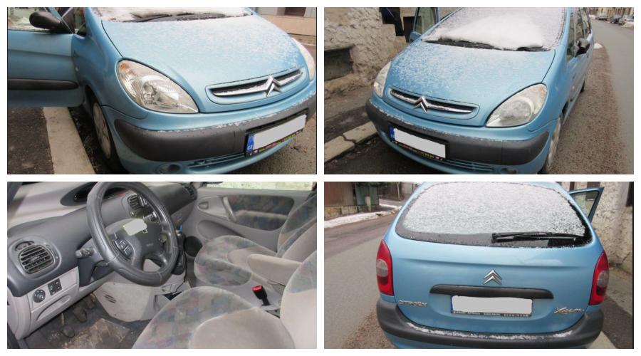 11.4.2019 Dražba automobilu Citroën Xsara Picasso. Vyvolávací cena 10.000 Kč.