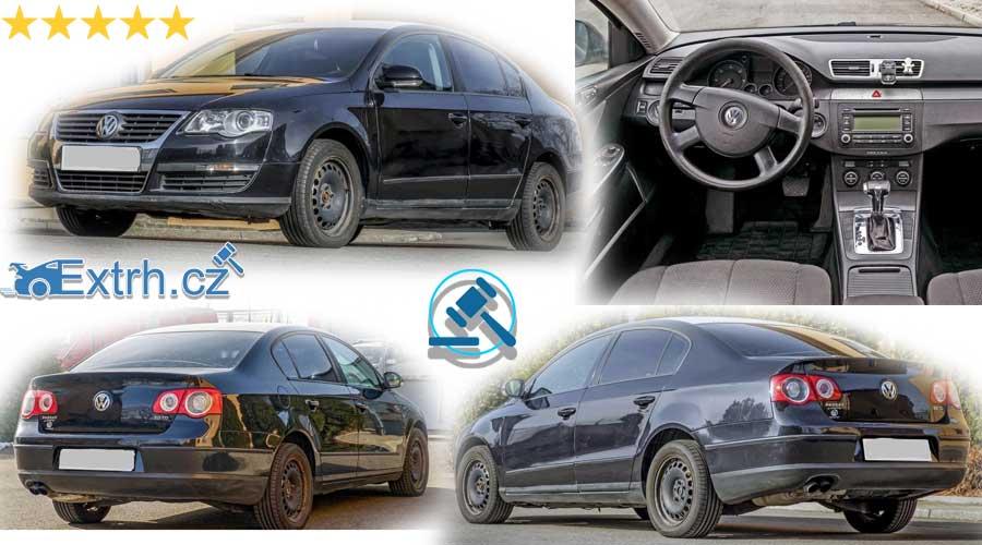 15.3.2019 Dražba automobilu VW Passat . Vyvolávací cena 20.000 Kč.