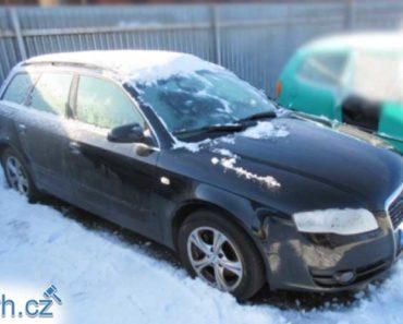 11.7.2019 Dražba automobilu Audi Avant A4. Vyvolávací cena 55.000 Kč.