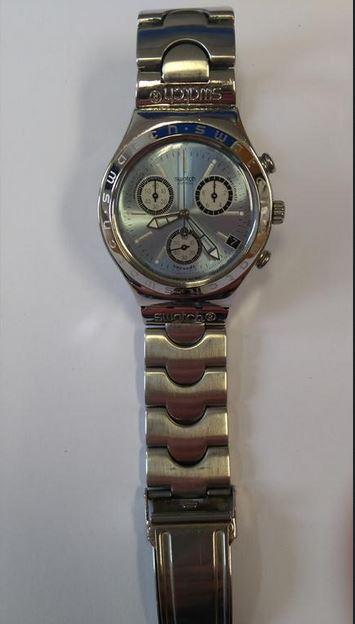 1a0c2354868 20.3.2019 Dražba pánských náramkových hodinek zn. SWATCH SWISS IRONY.  Vyvolávací cena 500 Kč. Další informace naleznete v popisu dražby níže.