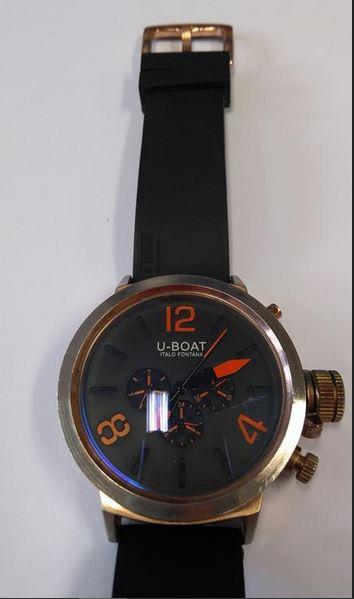 f175561d179 20.3.2019 Dražba pánských náramkových hodinek zn. U-BOAT ITALO FONTANA.  Vyvolávací cena 950 Kč. Další informace naleznete v popisu dražby níže.