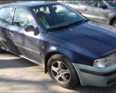 25.6.2019 Dražba automobilu Škoda Octavia 1.9 TD. Vyvolávací cena 8.000 Kč.